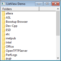 What are the types of views supported in ListView?